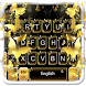 Gold Butterfly Keyboard Theme by 7star princess
