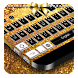 Gold & Black Keyboard by Cool Theme Studio