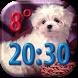 Puppies Clock Weather Widget by Super Widgets