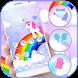 Cute Rainbow Unicorn Theme by ChickenAnt Themes