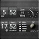 Sense Analog Small Black 4x1 by Factory Widgets