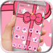Kitty Pink Bowknot by HD wallpaper and theme