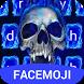 Blue Fire Skull Emoji Keyboard Theme for Instagram by Theme Keyboard Pro