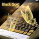 Black Gold Butterfly Keyboard by Cool Keyboard Theme Studio