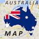 Australia Melbourne Map by Map City