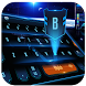 Blue tech 3D future keyboard by Bestheme keyboard Creator