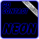 Blue neon GO Contact theme by modo lab