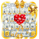 Gold and Silver Glitter Bow Girlish Keyboard by Maddy Manjrekar