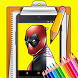 How To Draw deadpool by Relaxing Draw