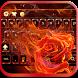 Fire Rose keyboard Theme flame by Fantasy Keyboard studio