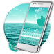 Blue Ocean water Keyboard by creative 3D Themes