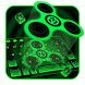 Neon Fidget Spinner Keyboard by creative 3D Themes