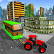 Tractor Pull Transport Traffic Car Tow. Bus Towing by Games Soft Studio
