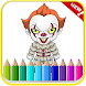 How To Color Pennywise Coloring Game For Adult by GoldenDraw