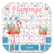 Floral Flamingo Keyboard Theme by Fly Liability Themes