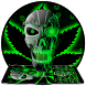 Neon Hellfire Skull Keyboard by Cool Themes and art work