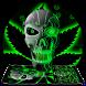 Neon Hellfire Skull Keyboard