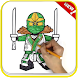 How To Color Lego Ninja Coloring game for adult by GoldenDraw