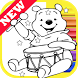 How Draw for Winnie the Coloring Bear Pooh by Fans by Draw Coloring Studio Dev