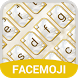 Gold Diamond Emoji Keyboard Theme for Messenger by Theme Keyboard Pro