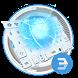 Future Tech Cool White blue Armor keyboard by Bestheme Keyboard Designer