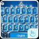 Blue Diamond Princess Keyboard Theme by Love Free Themes