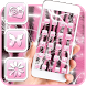 Cute Pink Zebra Theme by Best Free Android Themes