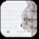 Gray Cat Kitty Keyboard by Keyboard Theme Factory