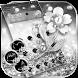 Glitter Silver Theme Wallpaper Diamond Rose by LXFighter-Studio