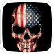 America Skull Theme by Heartful Theme