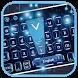 Blue Circuit Technology Keyboard Theme by Luxury Keyboard Theme