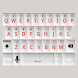 White and Red Keyboard Skin by Stealthychief Keyboard Themes