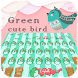 Green cute bird keyboard by Bestheme keyboard Creator