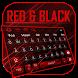 Red Black keyboard Theme by HD Theme launcher Creator