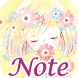Simple Notepad Flowery Kiss by peso.apps.pub.arts