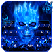 Blue Flame Skull Keyboard by creative 3D Themes