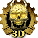 3D Wooden Vampire Skull Theme by 3D Themes World
