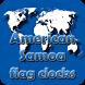 American Samoa flag clocks by modo lab
