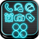 Electric Black Launcher Theme by Borkos Apps