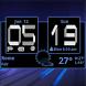 Honeycomb Weather Clock Widget by Factory Widgets
