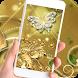 Theme Butterfly Gold Diamond by BEST APP Developer