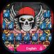 Graffiti Skull Keyboard Theme by cool wallpaper