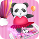 China Pink Panda Dancing Cute Theme by Alice Creative Studio