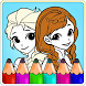 Queen Coloring Book For anna by Kidso Coloring Games