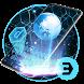 Neon Tech blue Hexagonal honeycomb keyboard by Bestheme Keyboard Designer