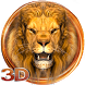 3D golden king lion theme by 3dthemecoollauncher