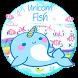 Unicorn Fish Typany Keyboard Theme by Cool Themes and art work