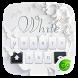 White GO Keyboard Theme by GO Keyboard Dev Team