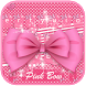 Pink Bowknot Keyboard Theme by Fantasy Keyboard studio