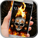 Flaming Skull&Fire Cranial by Cool Style Launcher Phone